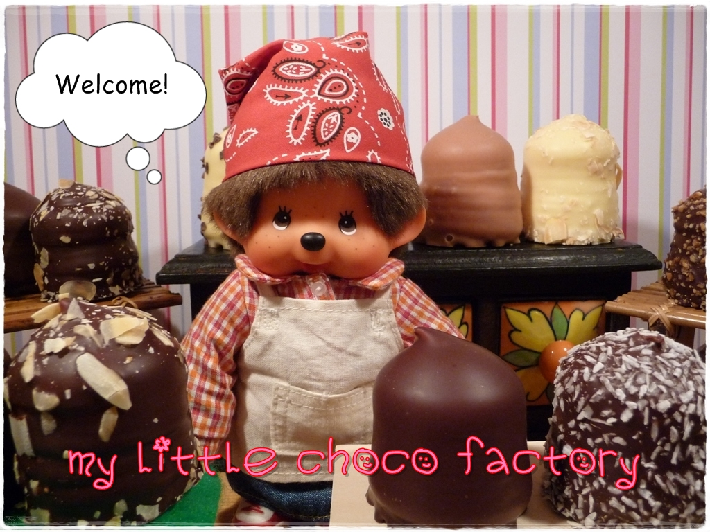 Monchhichi in the choco marshmallow factory