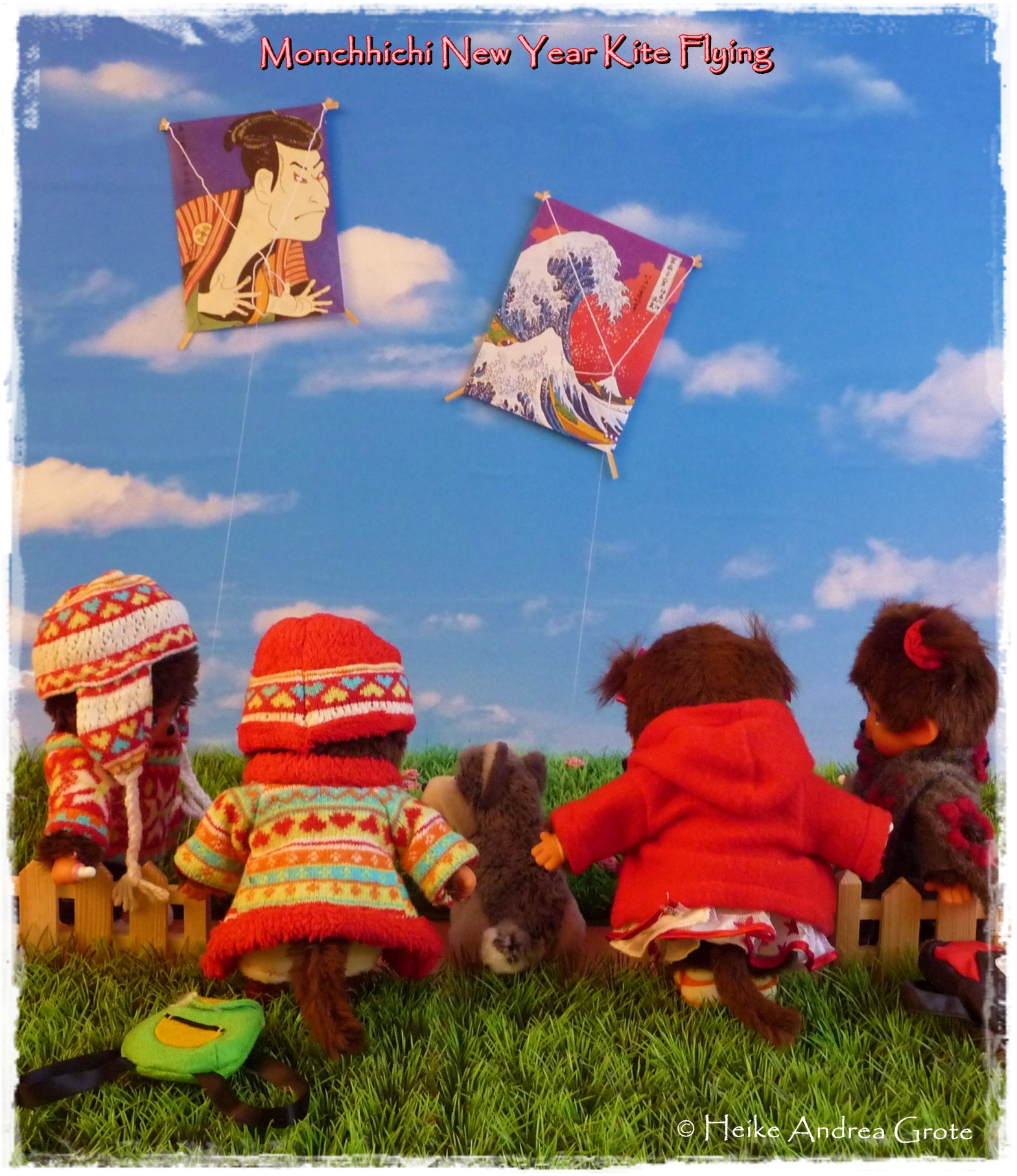 Monchhichi New Year Kite Fkying