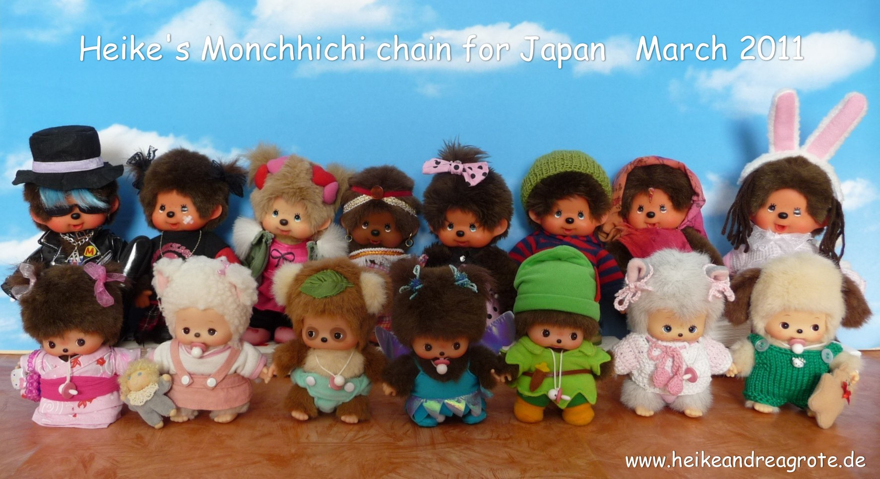 Heike's Monchhichi Chain For Japan
